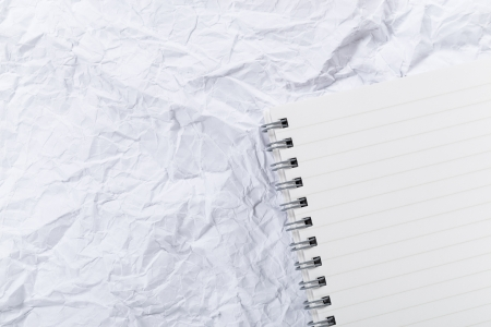 crumple: White crumple paper and notepad