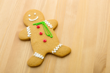 Gingerbread man cookie photo