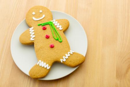 Xmas gingerbread man Stock Photo