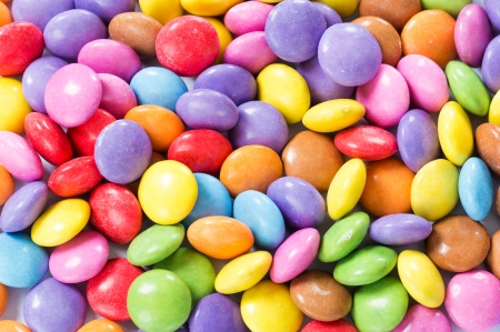 Colorful chocolate candy photo