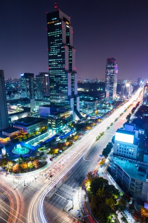 Gangnam District at night  photo
