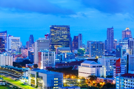 Bangkok city at night photo