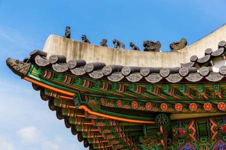 traufe: Traditionelle koreanische Architektur Dachtraufe