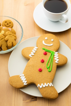 Gingerbread men and coffee  photo
