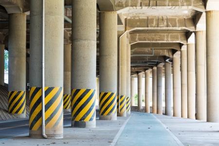 schlagbaum: Sehen Sie unter dem Viadukt