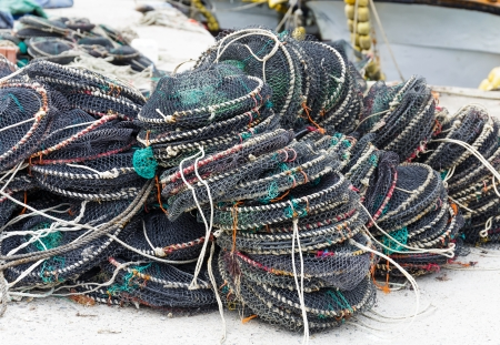 fisheries: Traps for capture fisheries Stock Photo