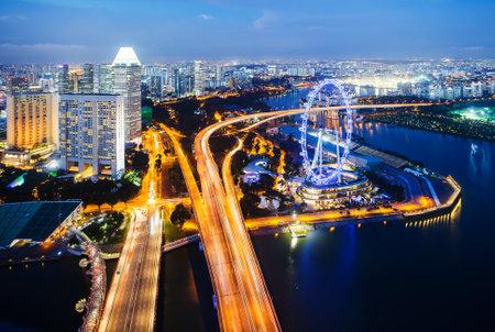schlagbaum: Singapur Landschaft Editorial