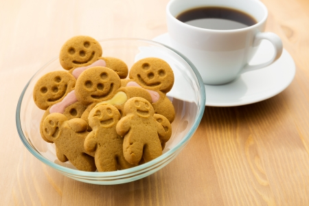 Gingerbread man with coffee Stock Photo - 24593067