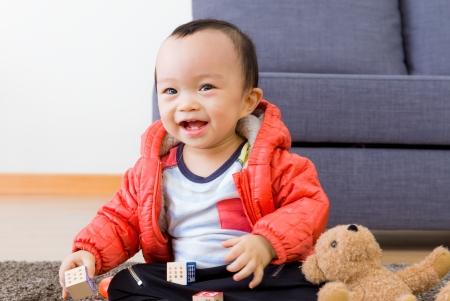 Cute asian baby boy photo