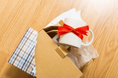 unwanted: Worst gift, cup Stock Photo