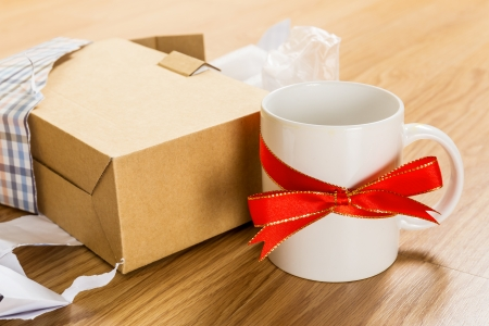 unwanted: Unwanted gift, cup Stock Photo