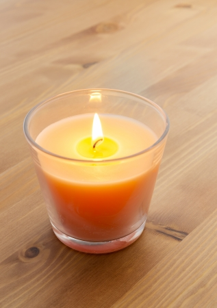 ignited: Ignited candlelight  Stock Photo
