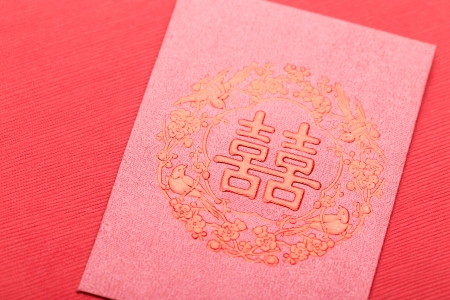 Chinese style invitation card photo