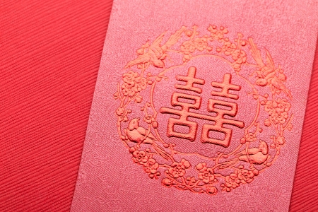 Chinese wedding invitation card  photo