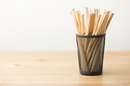 Pencil in pot photo