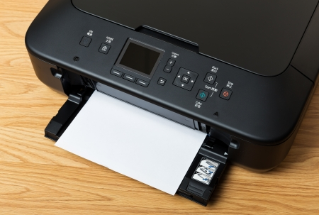 Domestic printer and paper photo