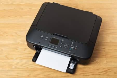 Printer and paper  photo