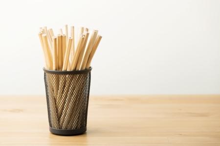 New pencil in pot photo