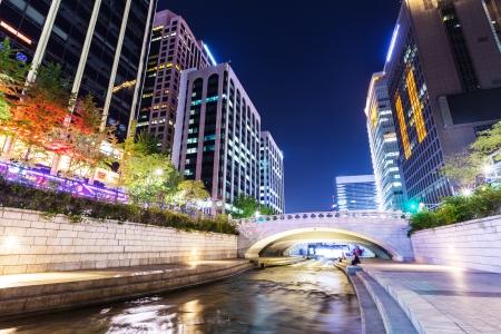Seoul: Cheonggyecheon in Seoul city Stock Photo
