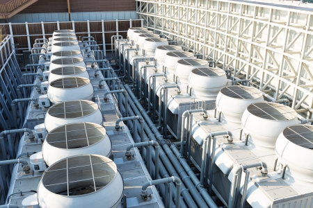 mechanical ventilation: Cooling tower at roof top
