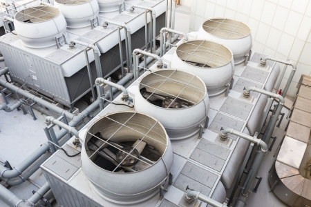 cooling: Cooling tower at outdoor