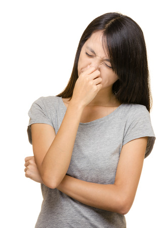 Asian woman nose allergy Stock Photo - 24961812