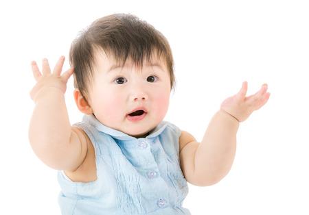 asian baby girl: Asian baby girl isolated on white