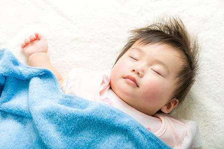 asian baby girl: Asian baby girl sleeping Stock Photo