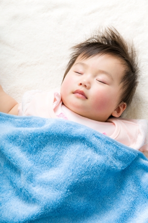 Asian baby girl sleeping photo