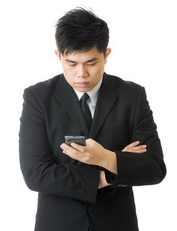 Businessman using mobile photo