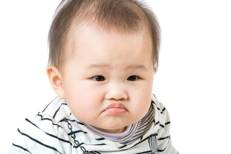 pout: Asian baby pout lip
