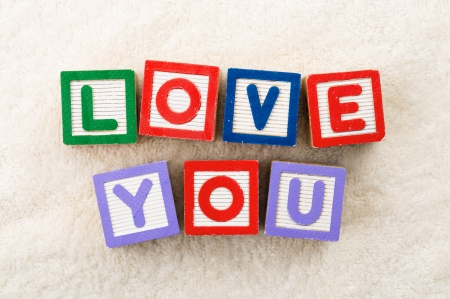 Love you toy block photo