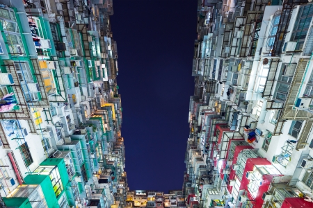 Packed building in Hong Kong photo