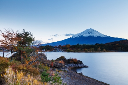 Mountain Fuji in Autumn photo
