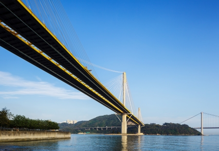 Suspension bridge in Hong Kong photo
