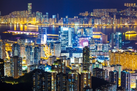 Hong Kong city skyline photo
