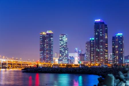 Busan city at night  photo