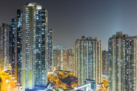Apartment building in Hong Kong photo
