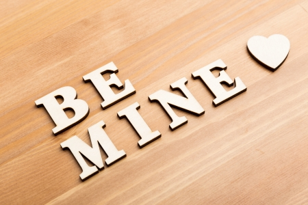 Be mine wooden letters photo