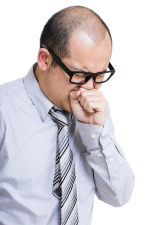Businessman with cough photo