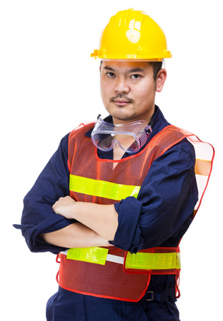 Asian Construction worker Stock Photo
