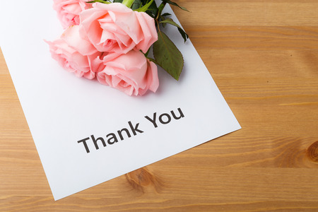 Rose and thank you card photo
