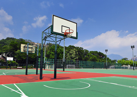 Public basketball court  photo