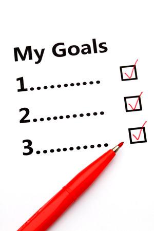 tickbox: Tickbox of my goal