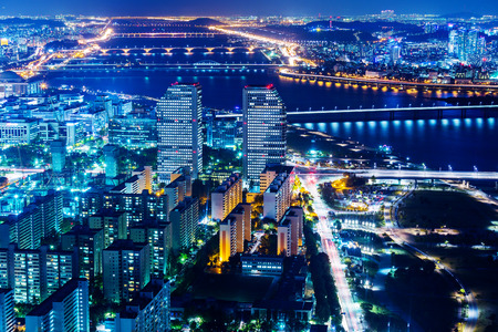 Downtown cityscape of Seoul photo