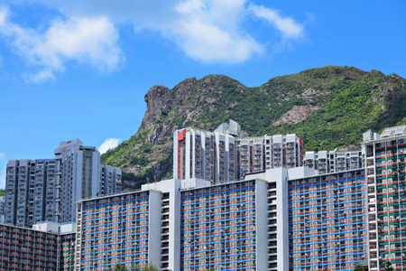Hong Kong Housing under mountain Lion Rock