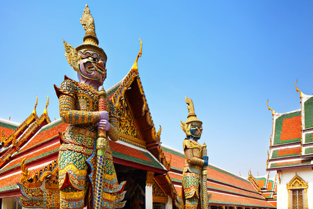 Statue sculpture in the Grand Palace photo