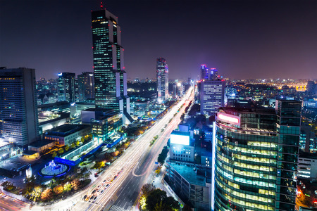 Gangnam district in Seoul photo