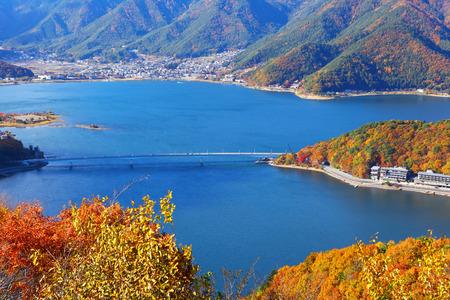 kawaguchi: Lake kawaguchi in Japan Stock Photo