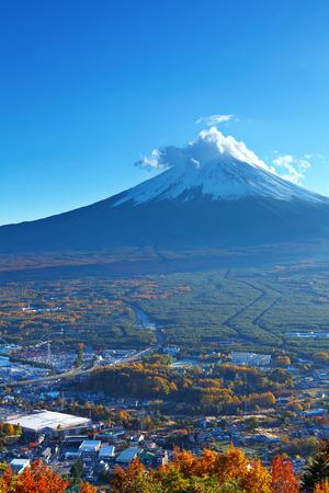 Mountain Fuji and village photo